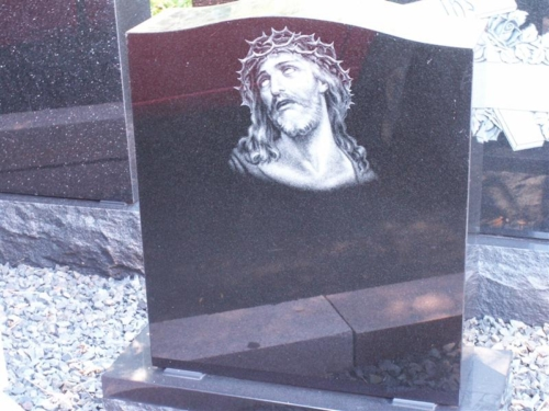 Hand Etching - Headstone